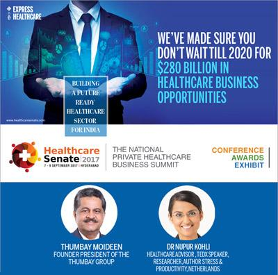 Kynote speaker at The Indian Express Senete Healthcare Senate 2017, India